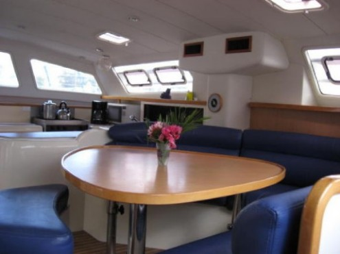 Preowned Sail Catamarans for Sale 2004 Leopard 47 Layout & Accommodations
